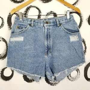 Vintage Lee Cut Off Denim Shorts High Waist 29""